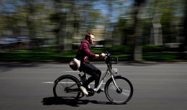 Man on e-bike