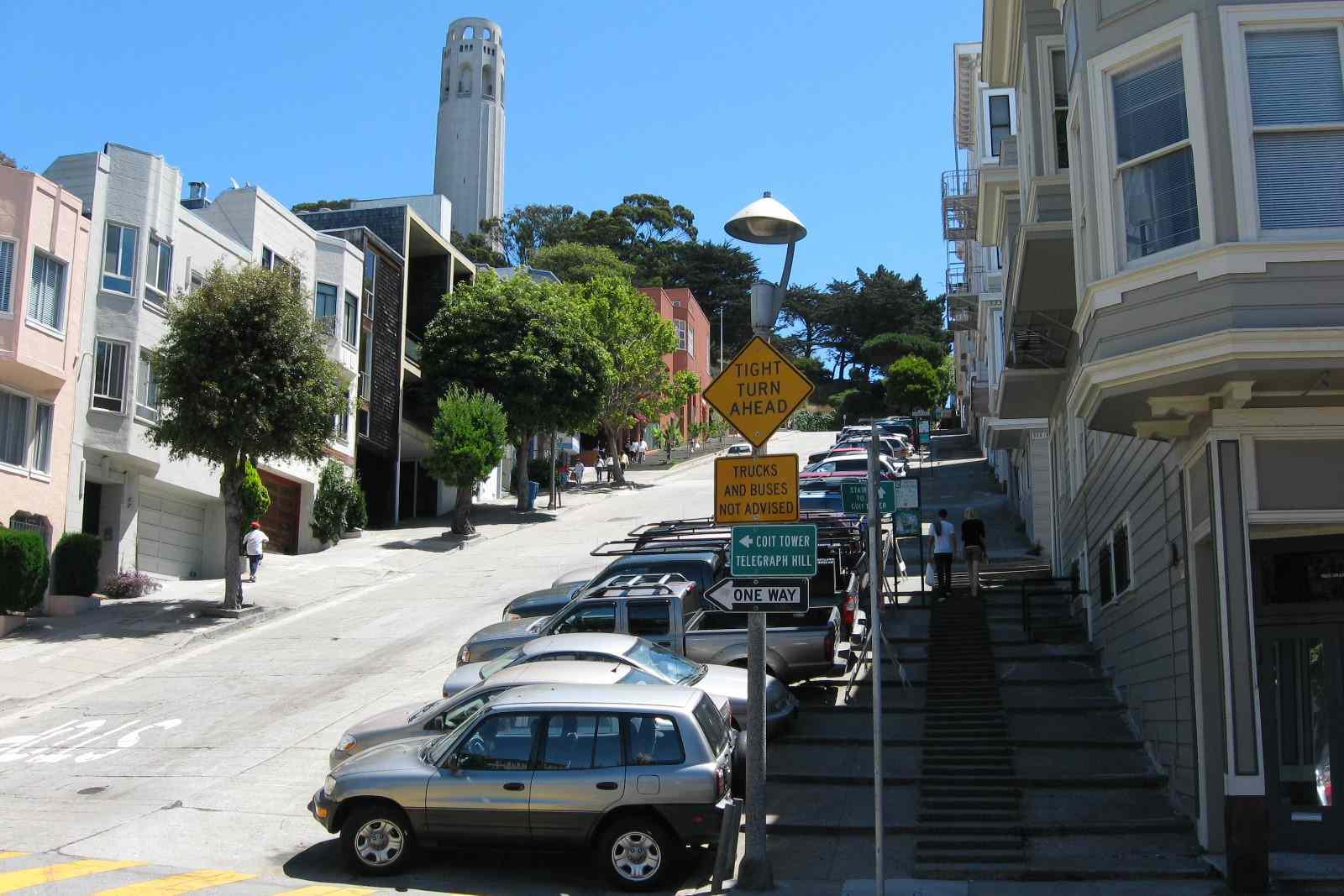 Filbert Street in San Francisco, California