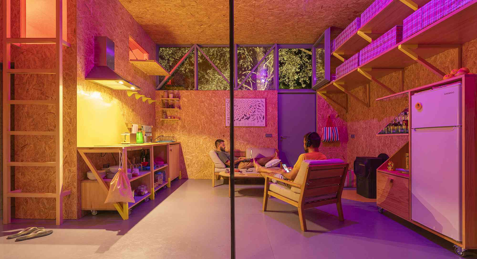(Synanthro)Love Shack, (Tele)Working Abode by Husos Architects kitchen as living room
