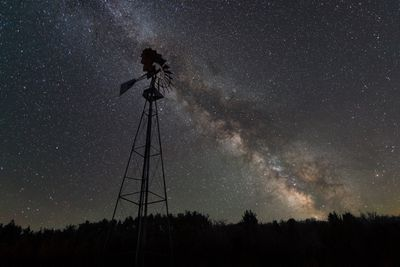 Milky Way visible behind an old windmill in Cherry Springs State Park, Pennsylvania