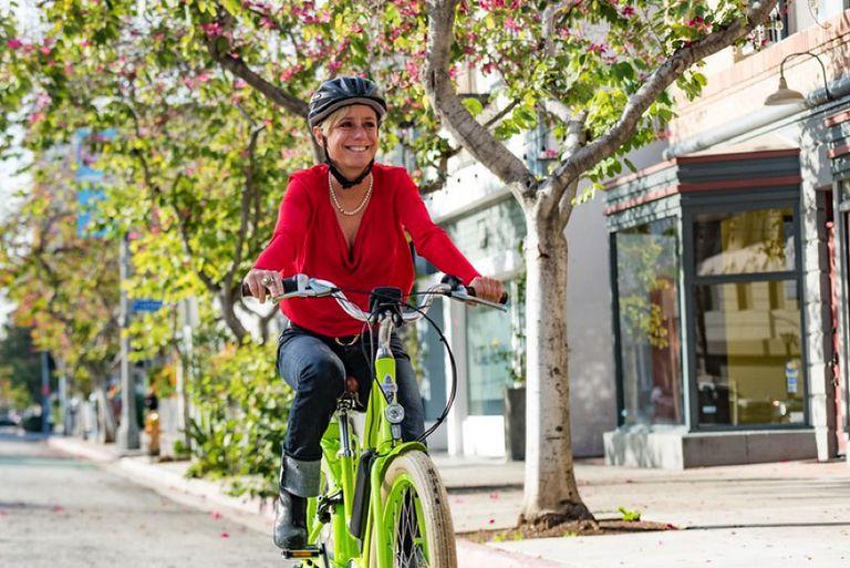 Claudia Wasko on bike