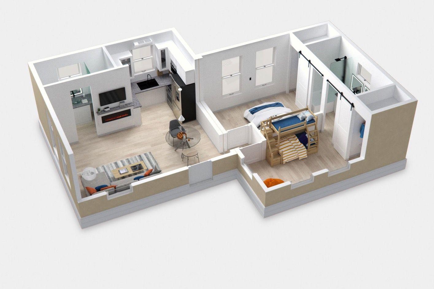 2 bedroom plan