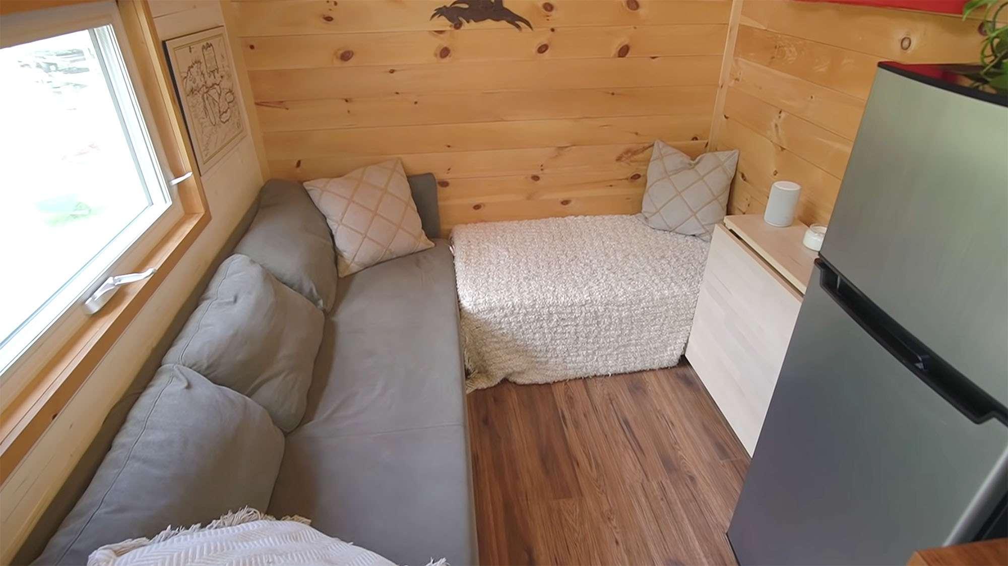 Giving Tree Family tiny house living room