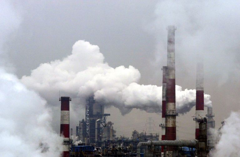 A View of the SK Corporation oil refiner on March 16, 2006 in Ulsan, South Korea.