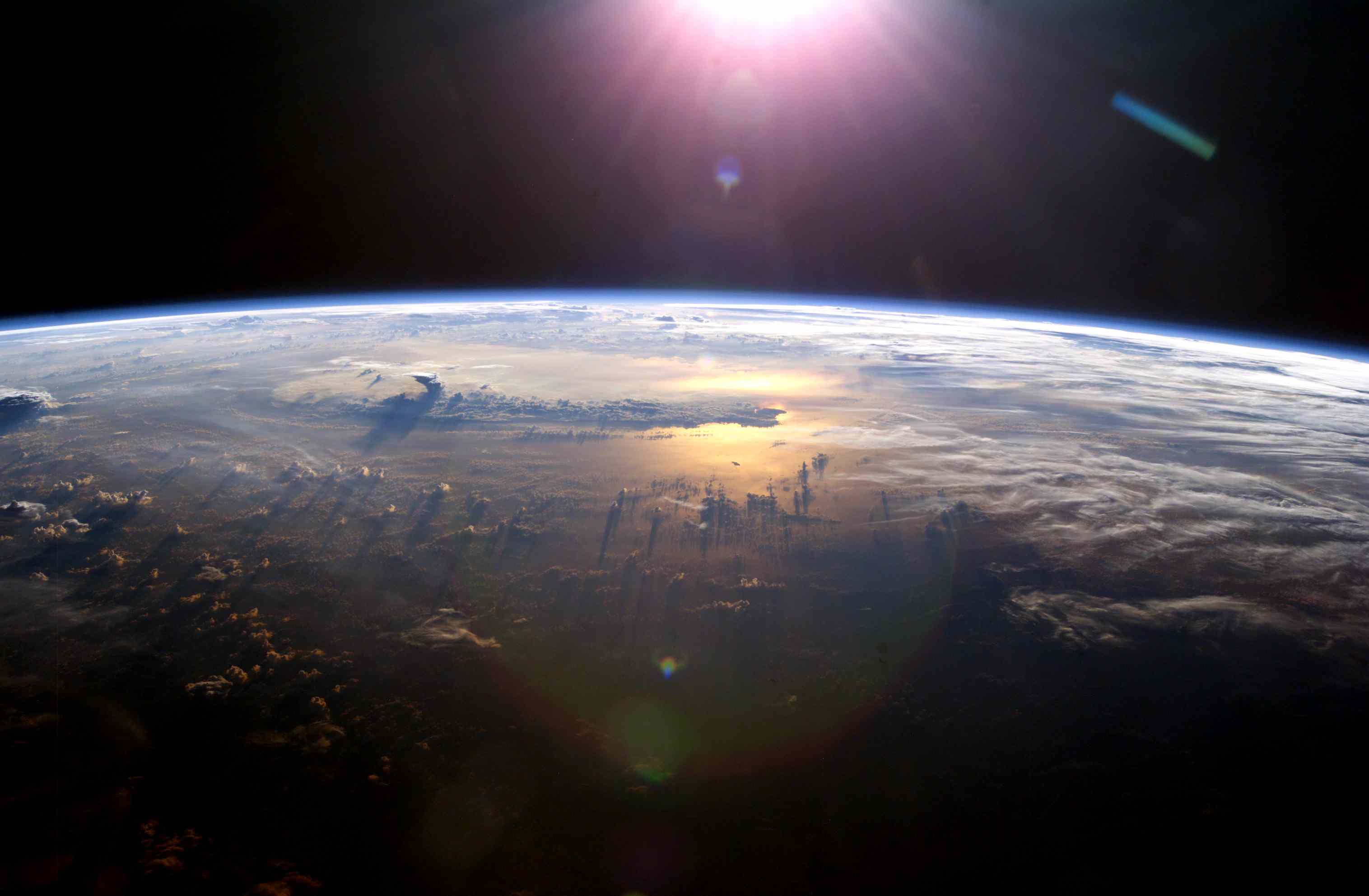 view of Earth's atmosphere from the International Space Station