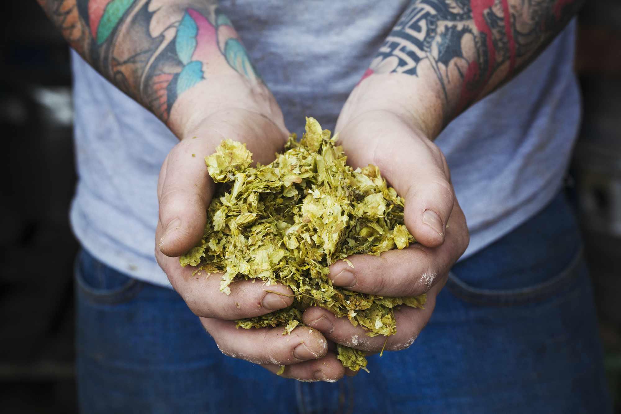 handful of hops