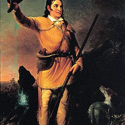 Portrait of Davy Crockett by John Gadsby Chapman