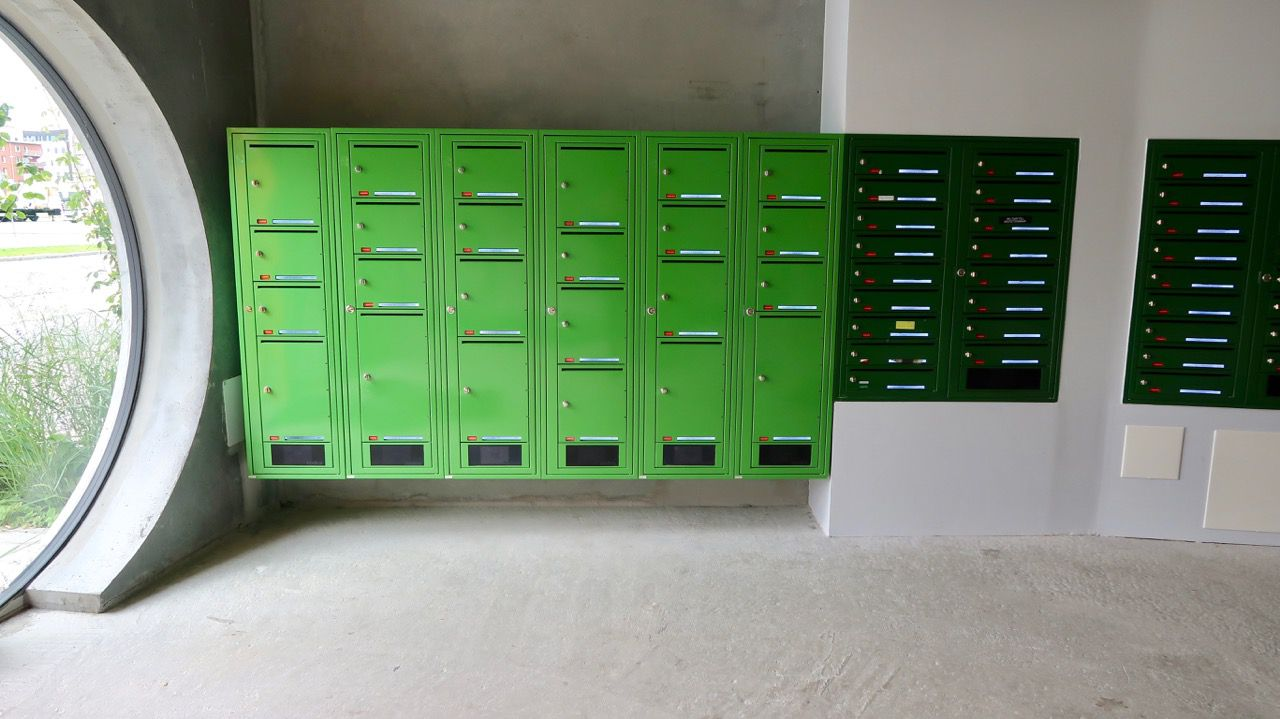 lockers and mailboxes