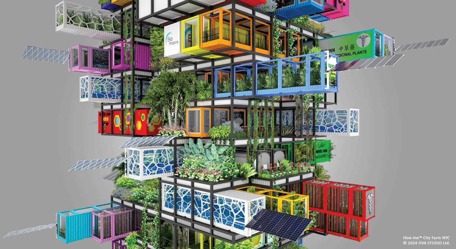 Hive-Inn City Farms shipping container