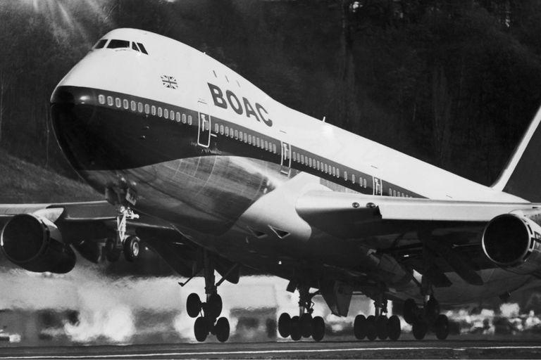 BOAC 747 taking off in 1970