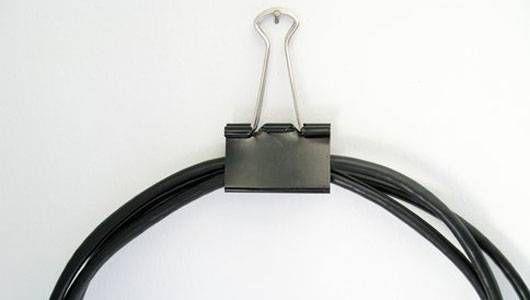 binder clip cord catcher