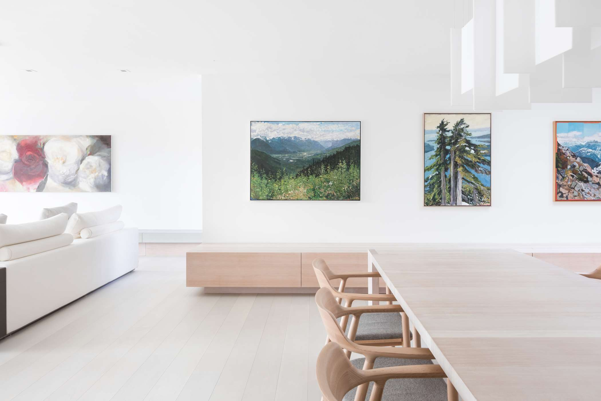 Dining table and art