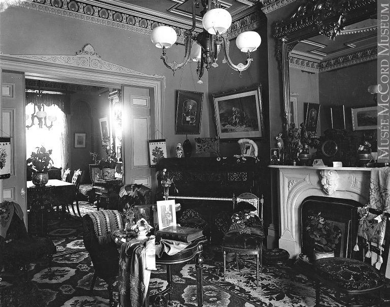 Drawing room, Mrs. Alex McDougall's house, Montreal, QC, 1895 ,William Notman