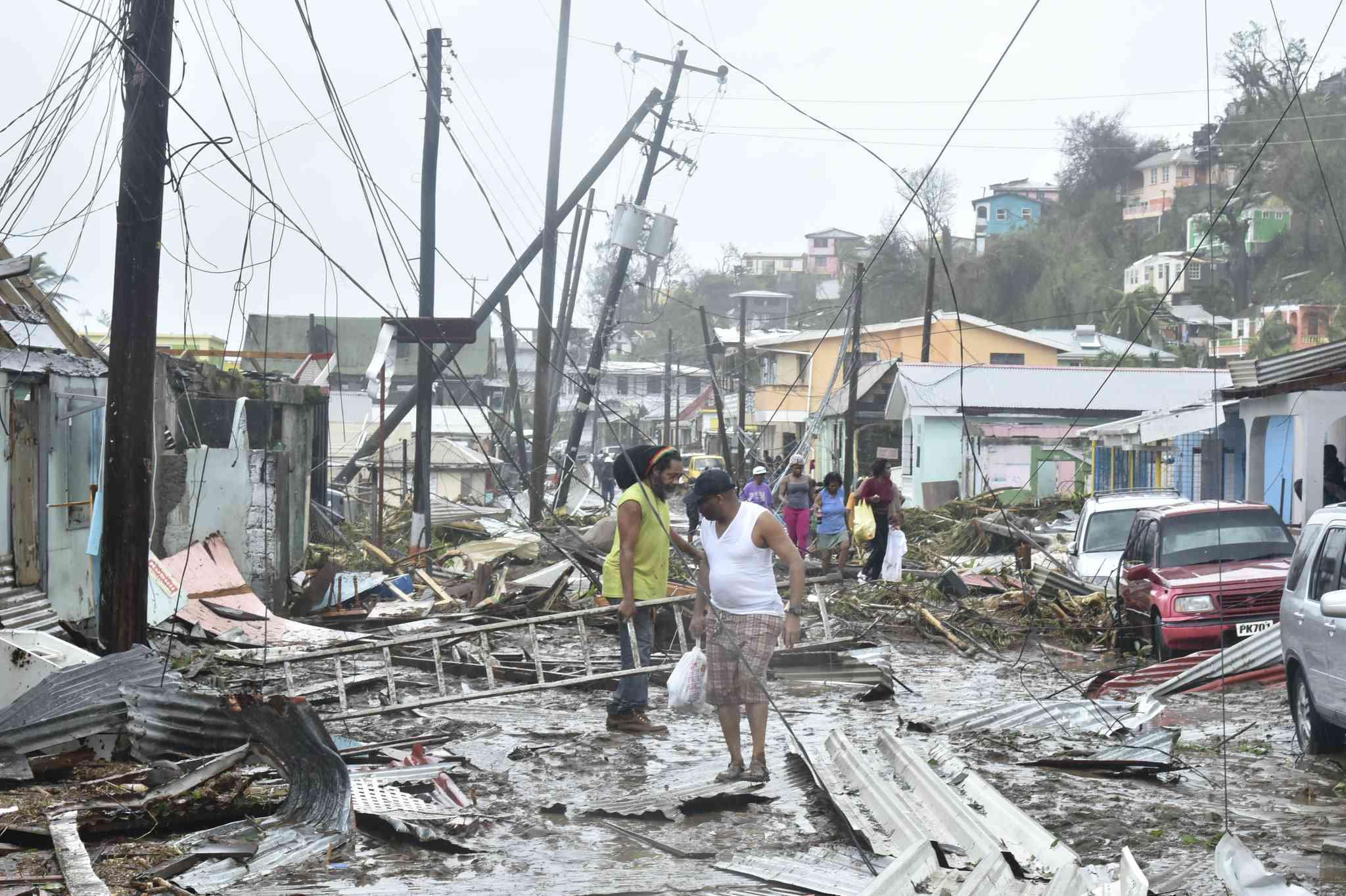 Hurricane Maria 2017 damage in Dominica