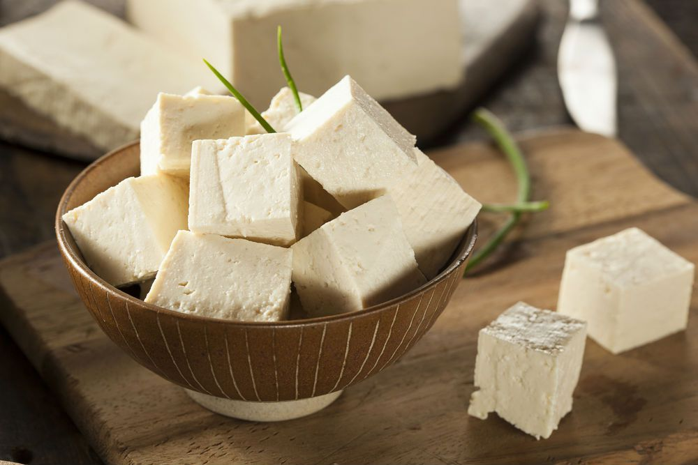 cubes of tofu that are high in vitamin d