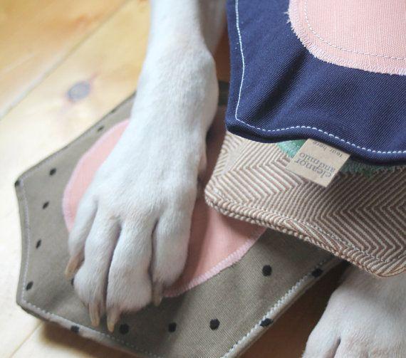 white dog paw on top of soft dog toy