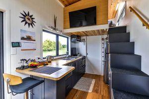 Mark's DIY modern tiny house interior