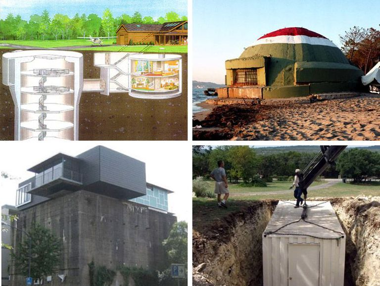 Four examples of bunkers