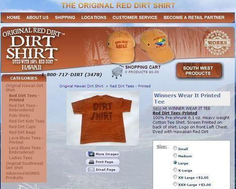 photo red dirt shirt-