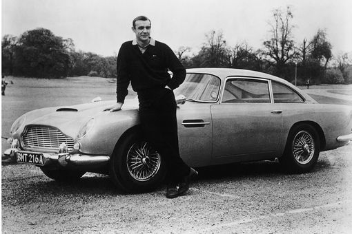 Sean Connery with Aston Martin