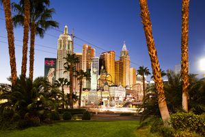 New York New York Hotel and Casino (dusk)
