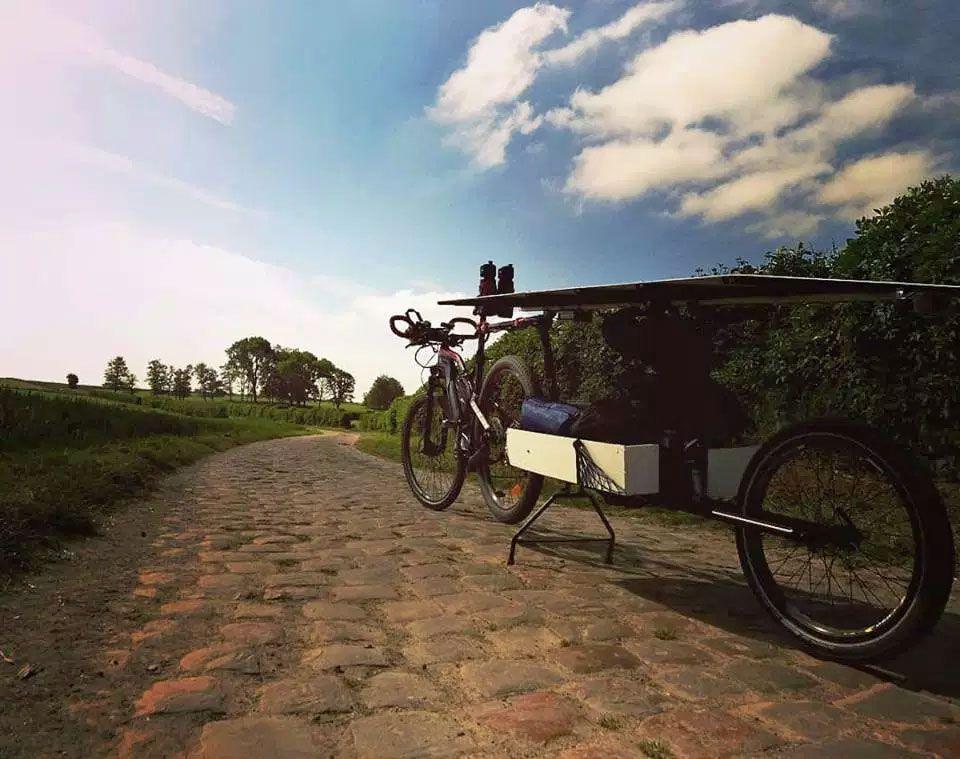 Bike towing a trailer