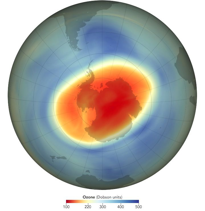 Antarctic Ozone Hole in 2020