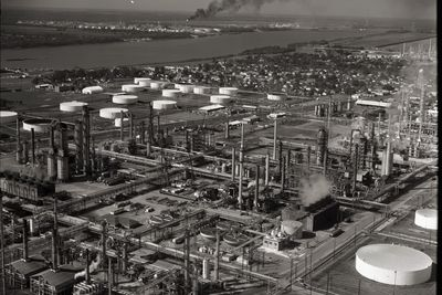 Shell Oil refinery near New Orleans
