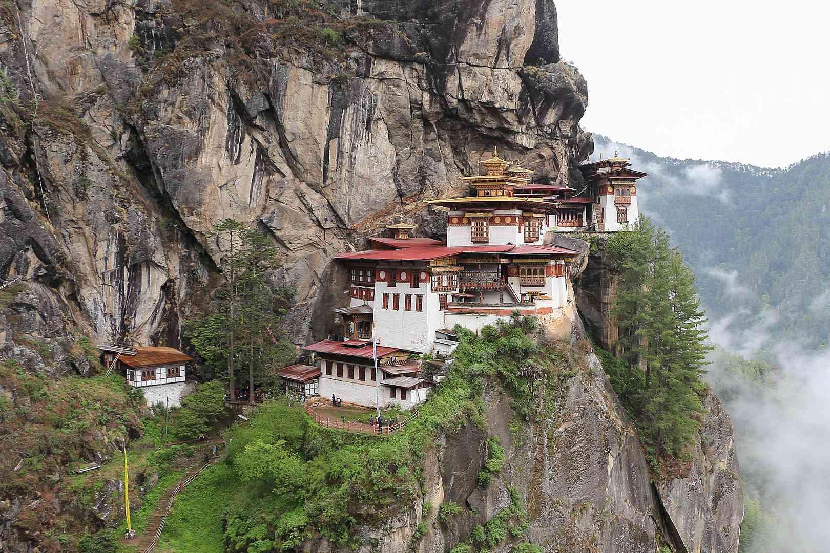 Paro Taktsang in the Paro Valley of Bhutan