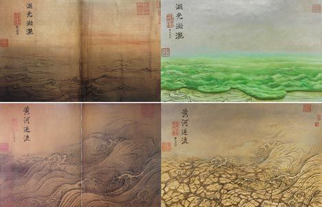 zhang hongtu pollution paintings image