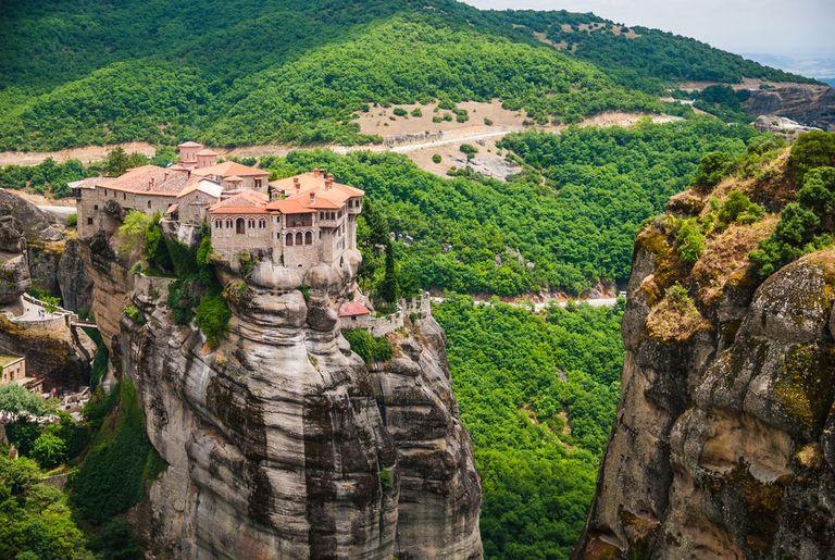 A monastery in Meteora, Greece