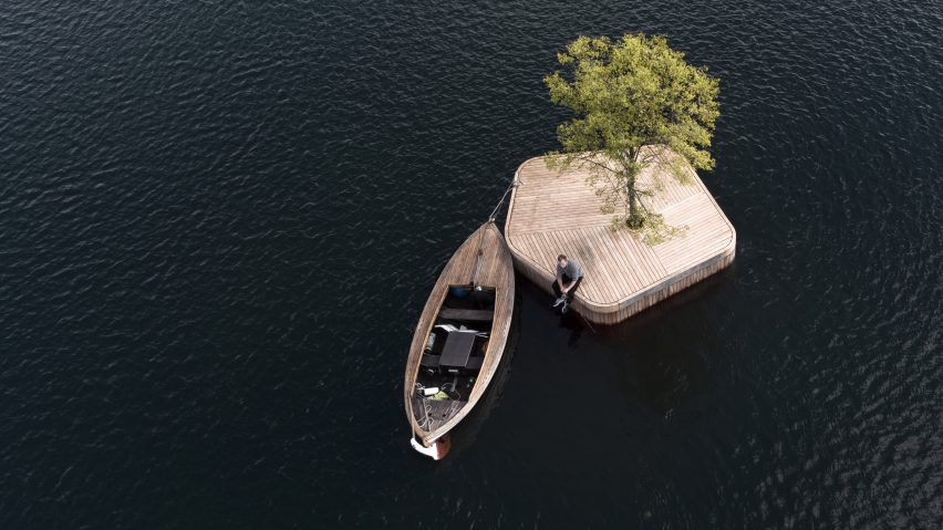 CPHØ1, a floating park launched as part of Copenhagen Islands project.