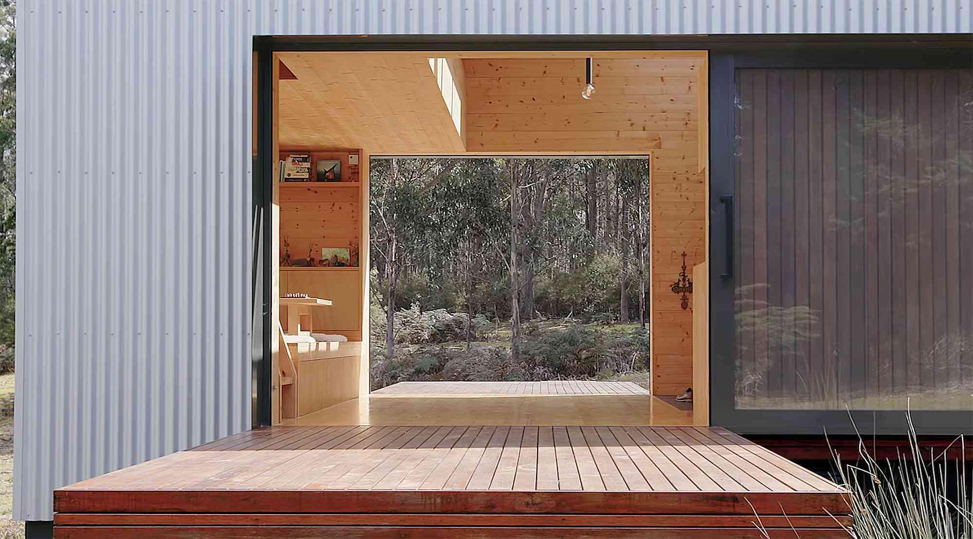 Bruny Island Hideaway by Maguire + Devin sliding doors