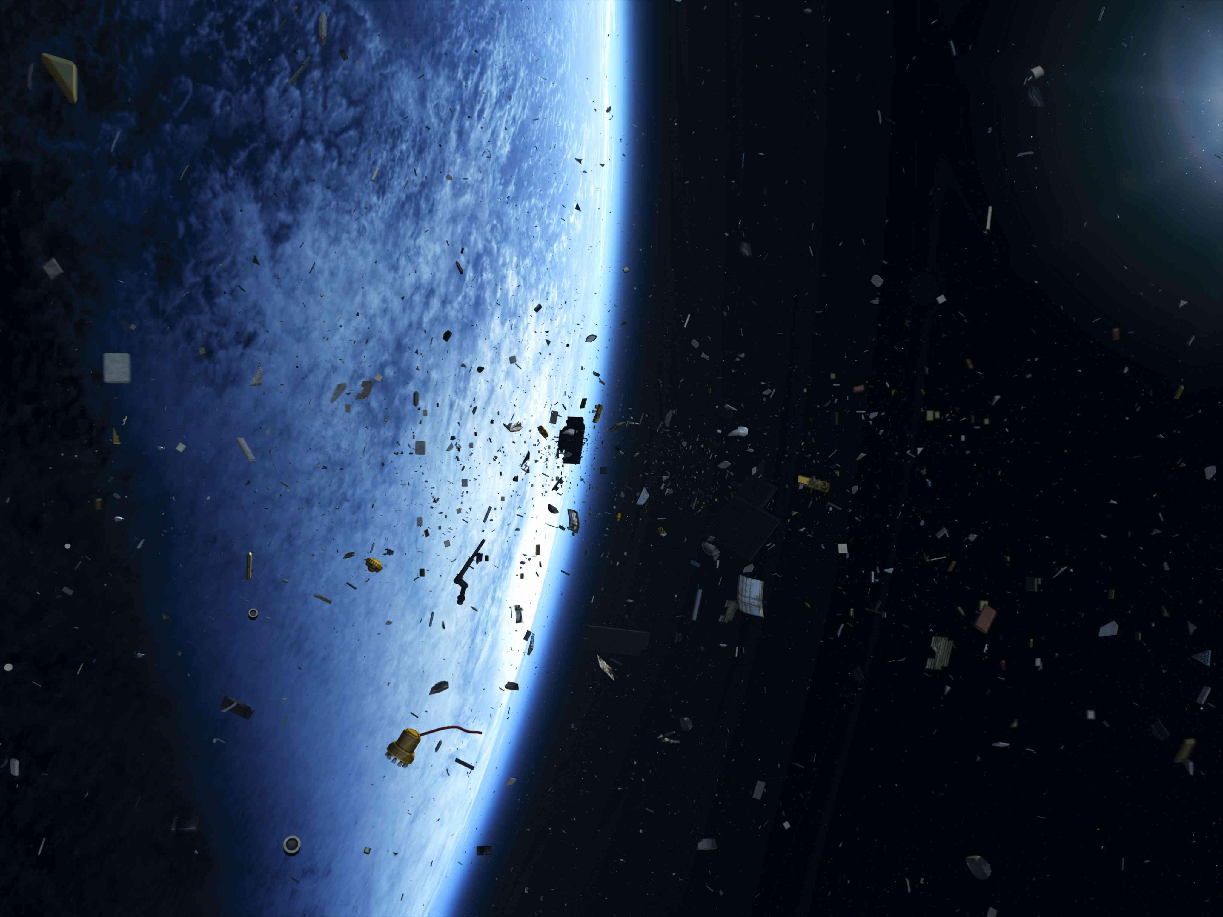 space junk illustration