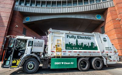 Volvo Group's subsidiary Mack Trucks announced today that the New York City Department of Sanitation (DSNY) plans to purchase seven Mack® LR Electric refuse models, which will operate in each of the city's boroughs.