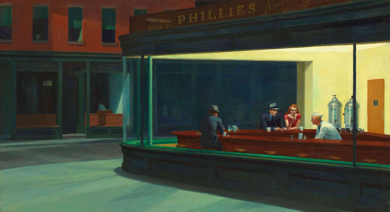 nighthawks drinking coffee