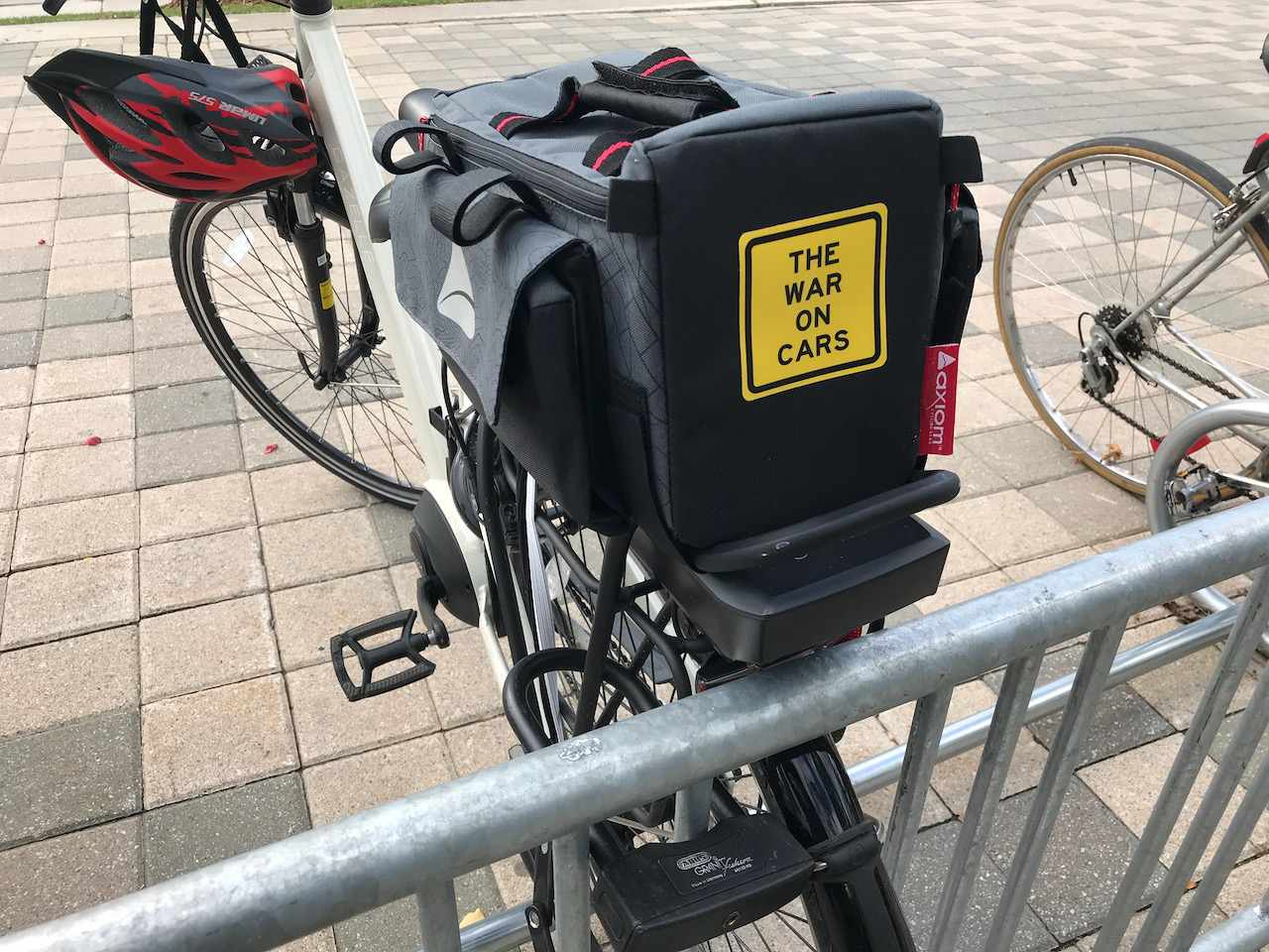 Carrier on bike