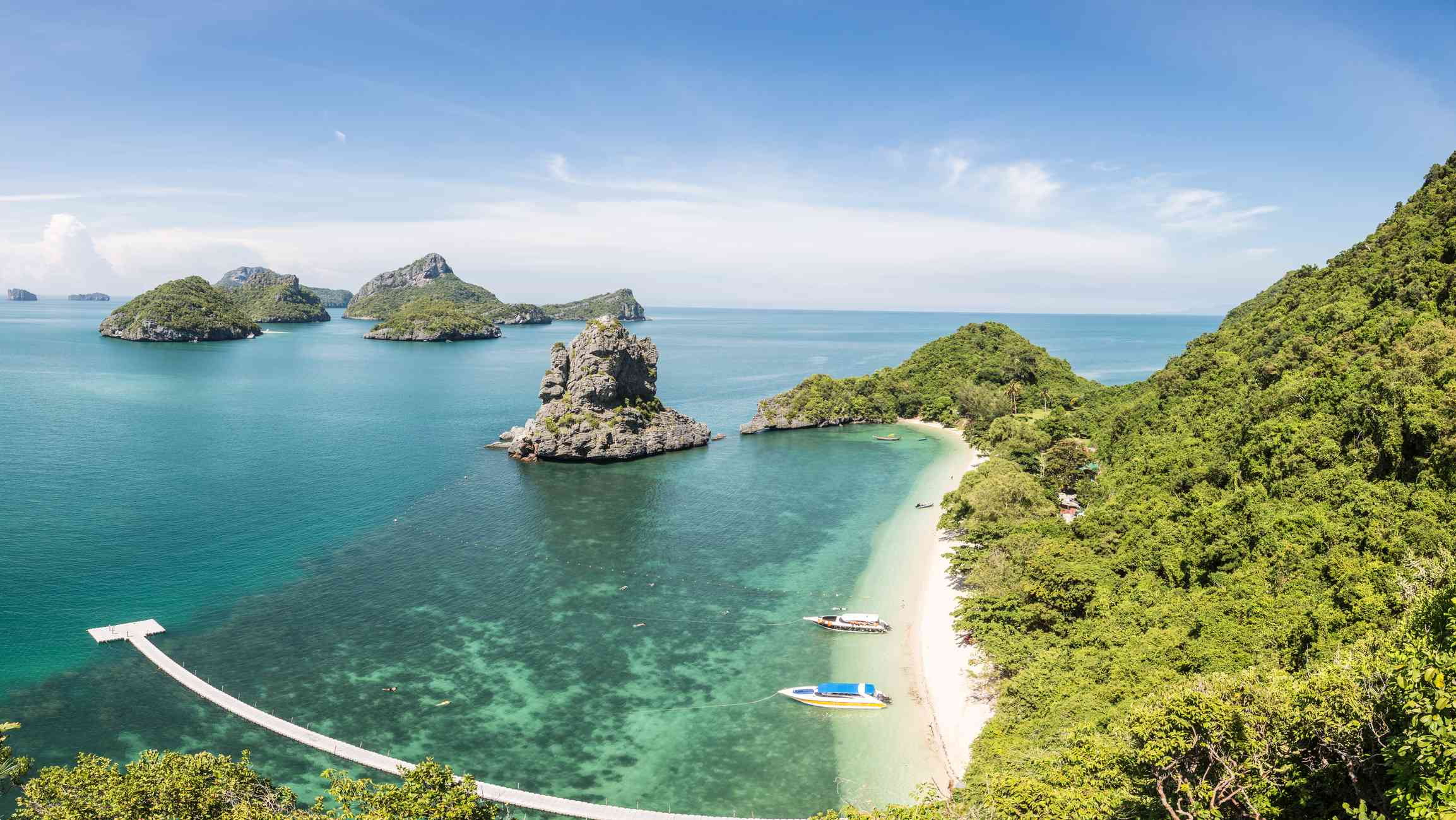 Some of the Mu Ko Ang Thong islands in the Sea of Thailand