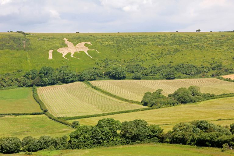 Large horse figure on a hill