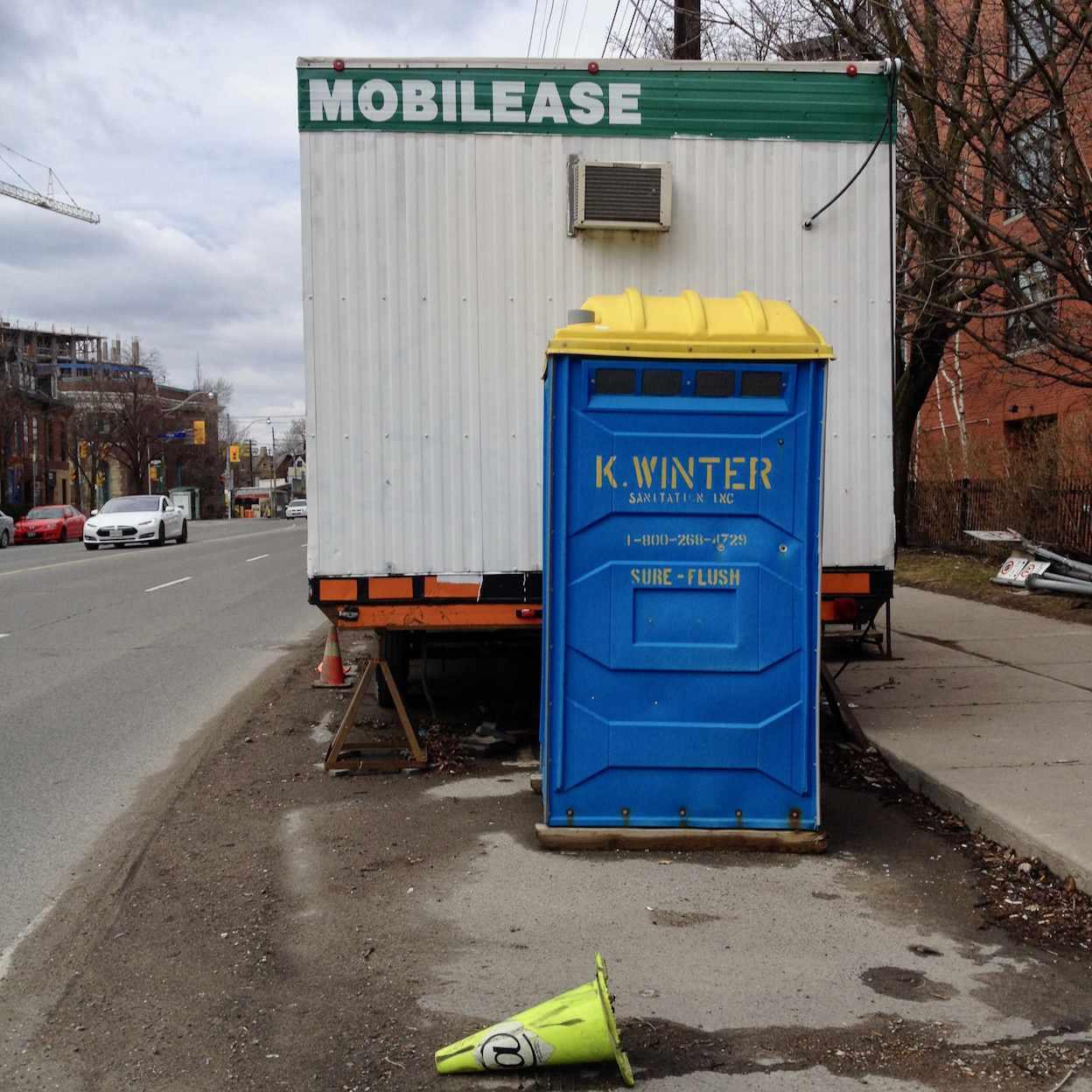 Life in the portable toilet lane