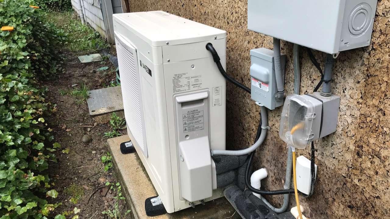 Sanden heat pump installation