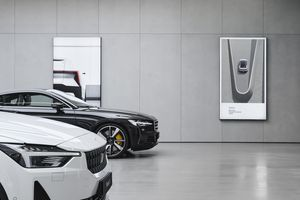 Polestar vehicles in a showroom