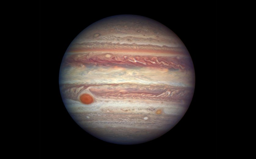 The planet Jupiter, as captured by the Hubble Space Telescope.