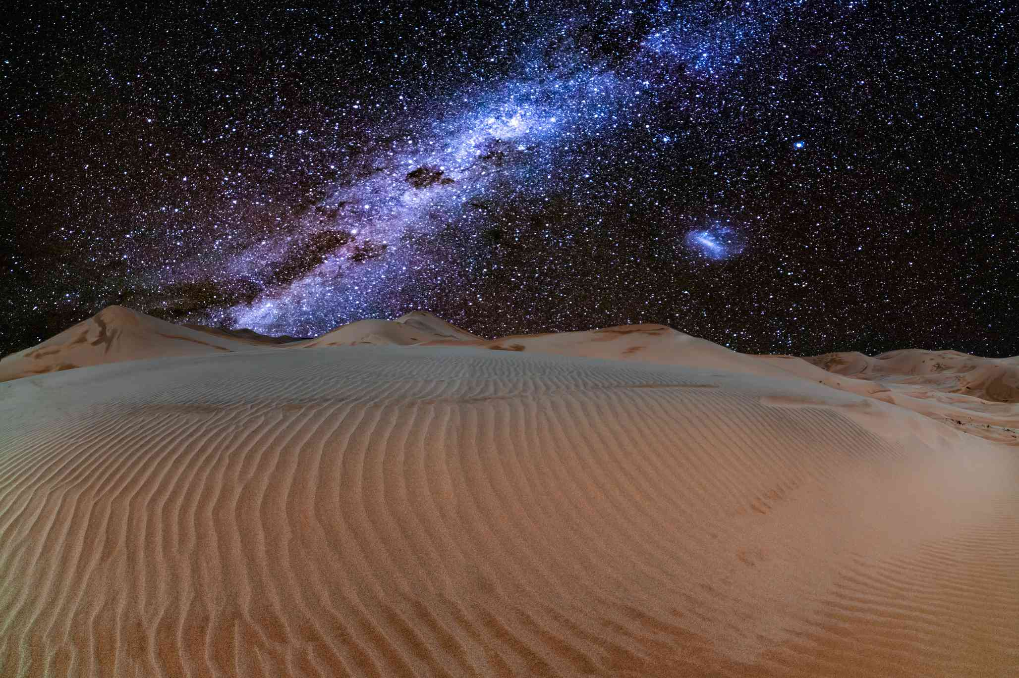 Milky Way over sand dunes in NamibRand Nature Reserve