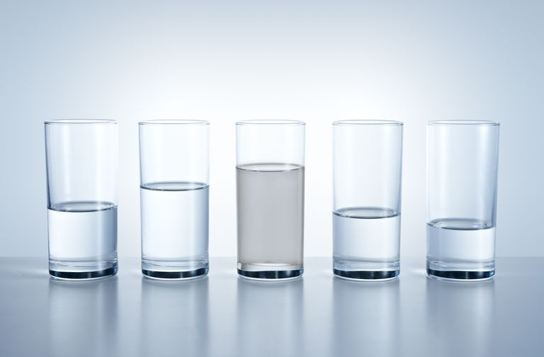 A picture displaying the water shortage in different areas