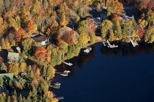 Lake shore homes.