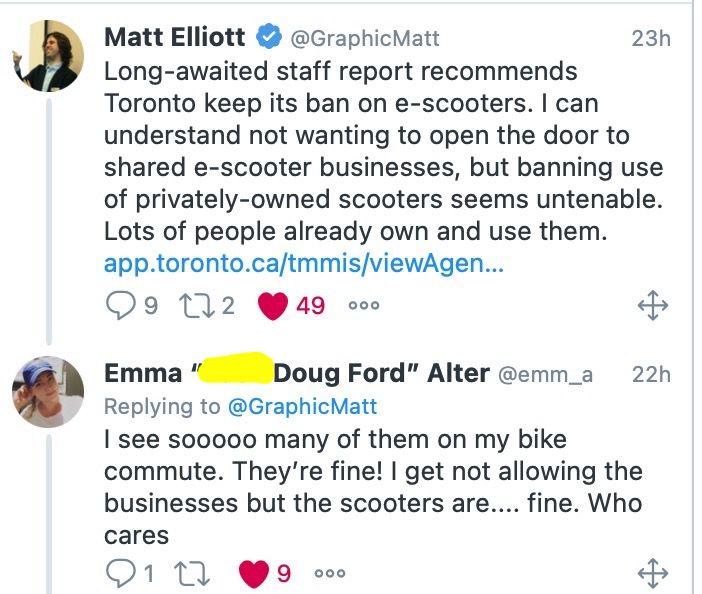 Tweet re scooters