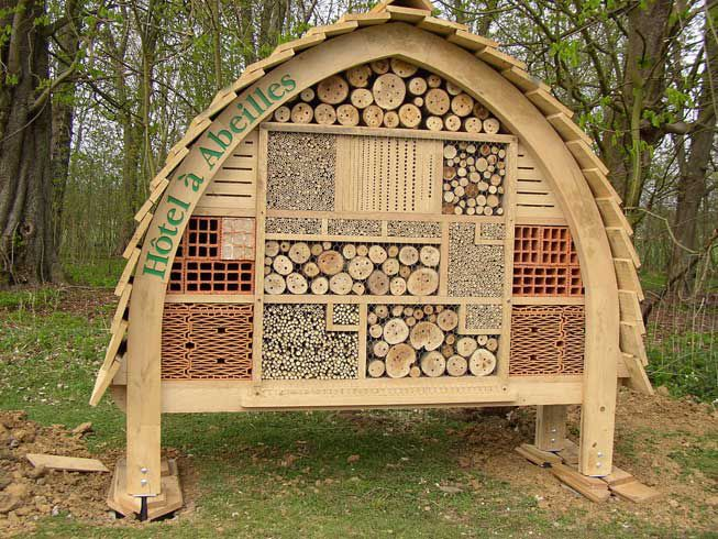 A large bee hotel