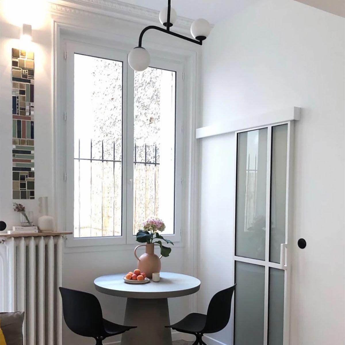 Boulevard Arago apartment renovation Studio Beau Faire dining table