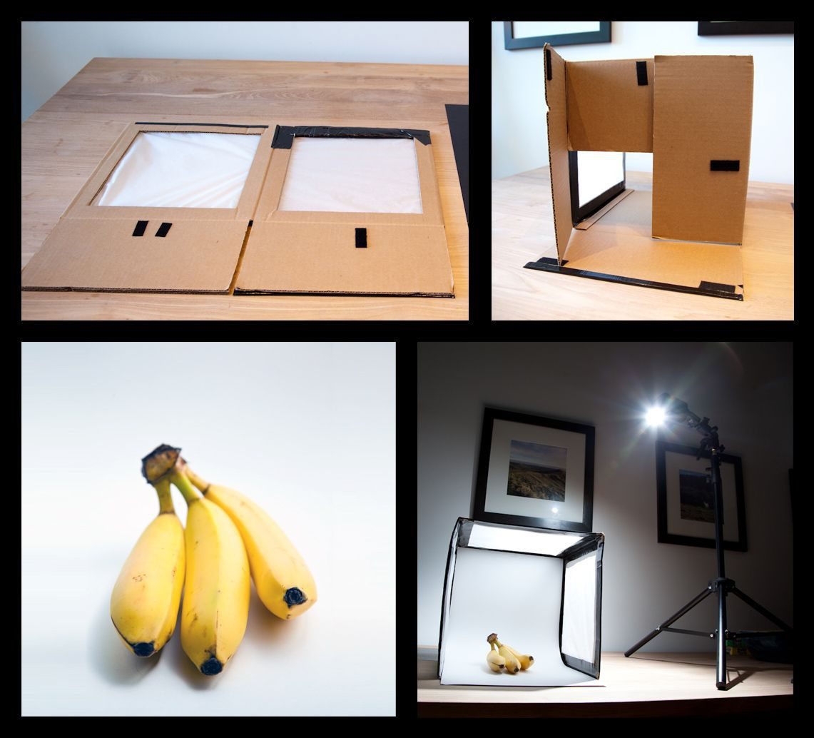 collapsible lightbox made of duct tape